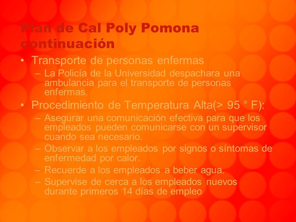 Plan de Cal Poly Pomona continuación