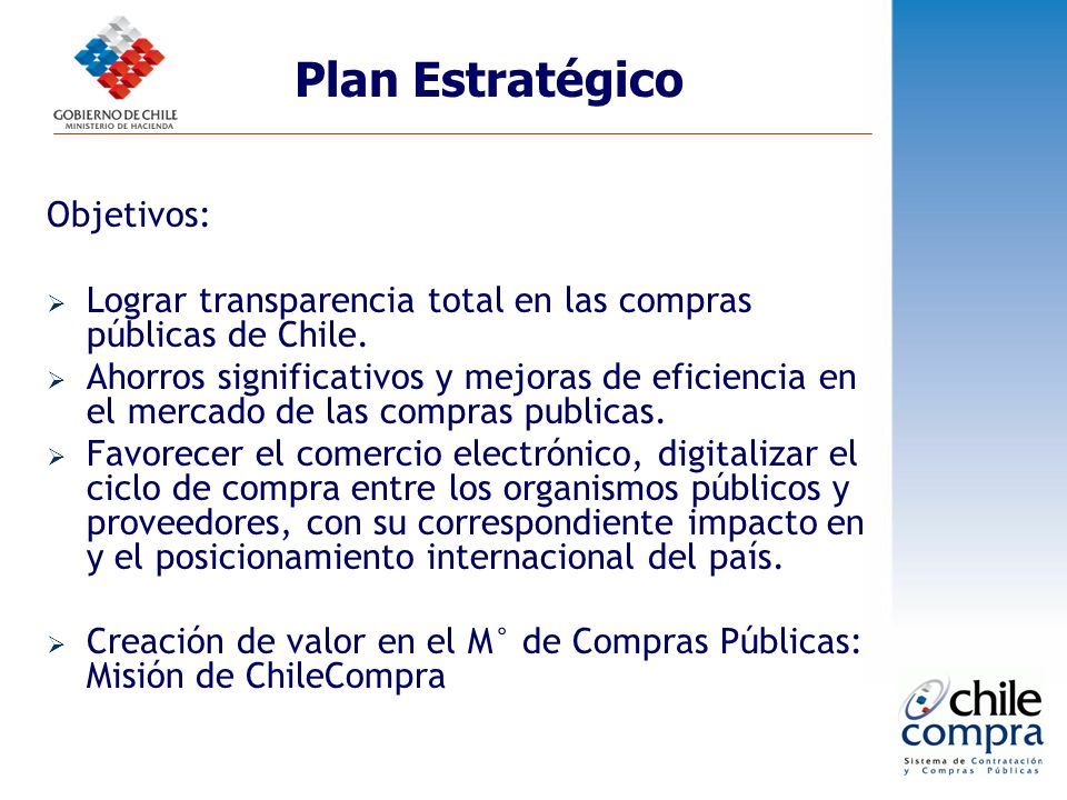 Plan Estratégico Objetivos: