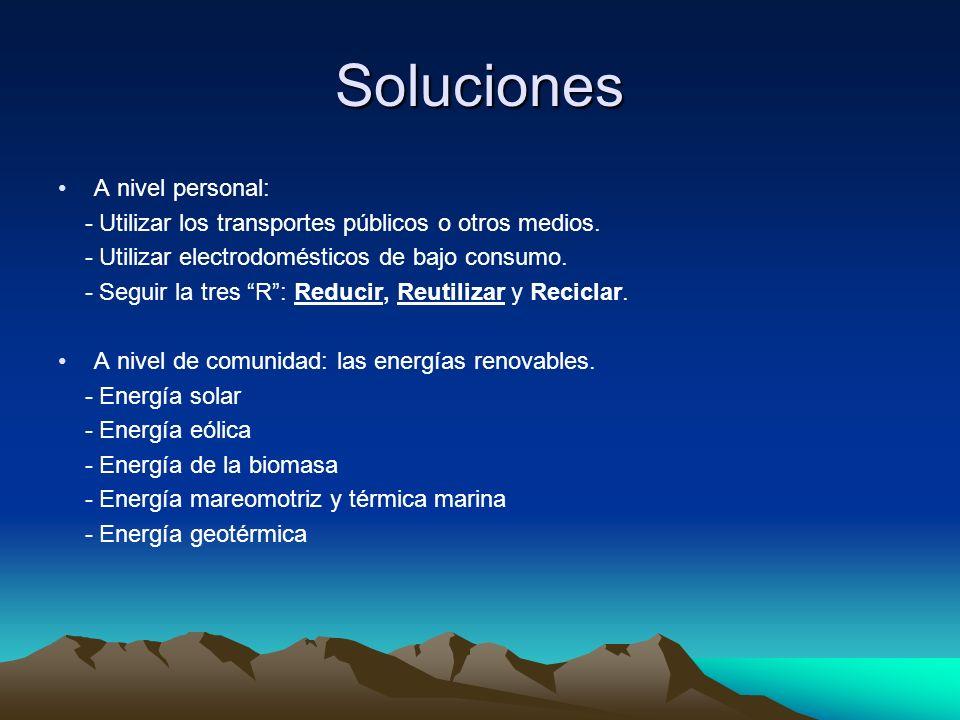 Soluciones A nivel personal: