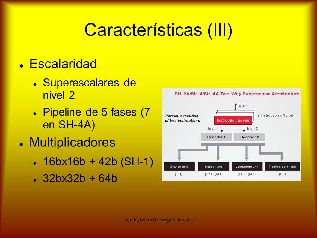 Características (III)