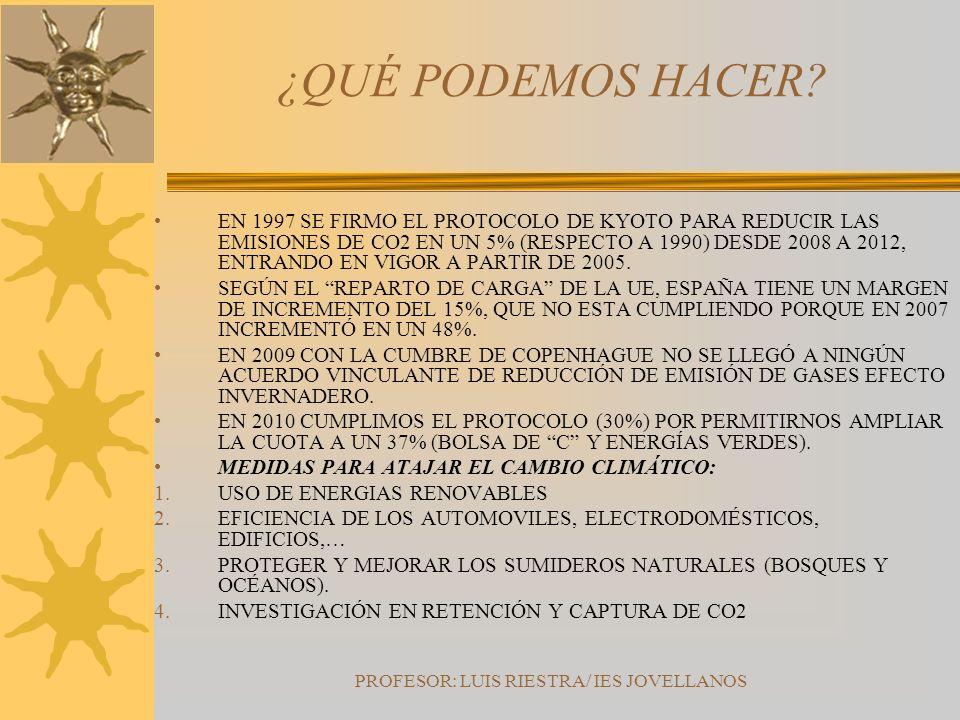 PROFESOR: LUIS RIESTRA/ IES JOVELLANOS