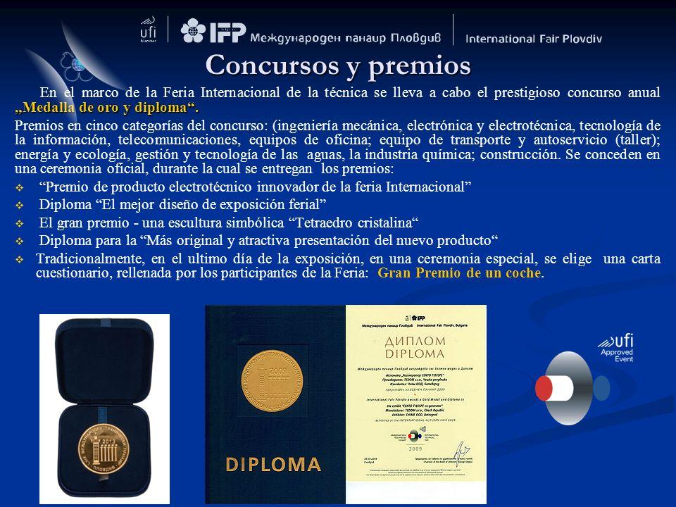 """Concursos y premios En el marco de la Feria Internacional de la técnica se lleva a cabo el prestigioso concurso anual """"Medalla de oro y diploma ."""