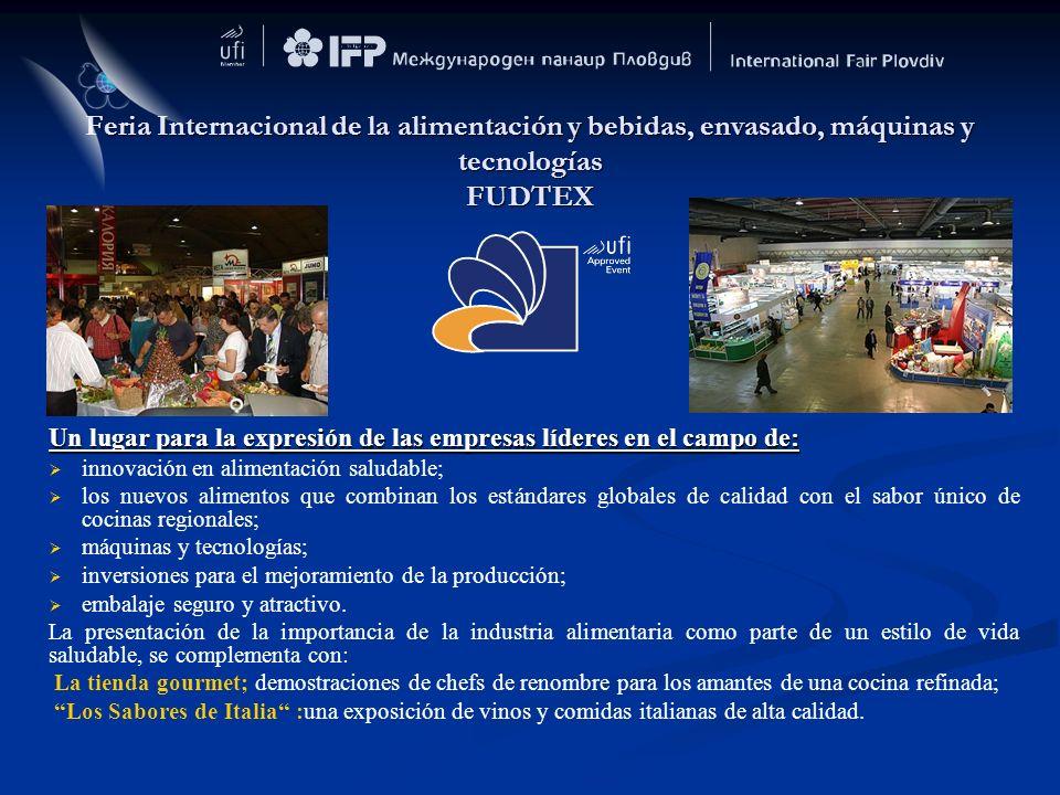 Feria Internacional de la alimentación y bebidas, envasado, máquinas y tecnologías FUDTEX