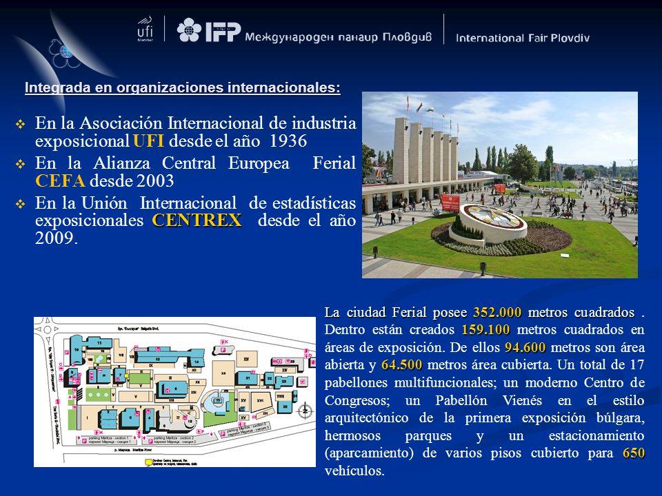 Integrada en organizaciones internacionales: