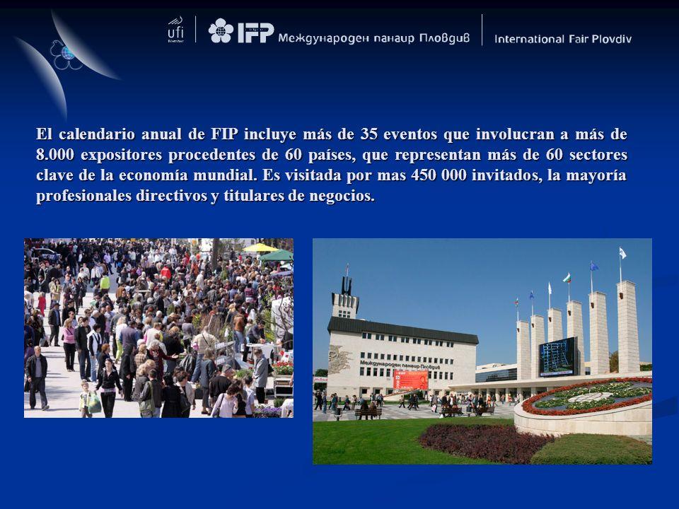 El calendario anual de FIP incluye más de 35 eventos que involucran a más de 8.000 expositores procedentes de 60 países, que representan más de 60 sectores clave de la economía mundial.