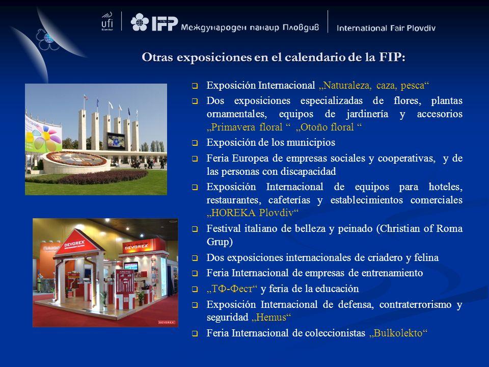 Otras exposiciones en el calendario de la FIP: