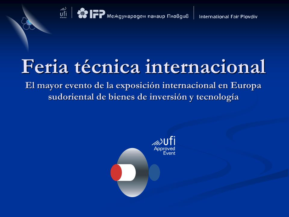Feria técnica internacional El mayor evento de la exposición internacional en Europa sudoriental de bienes de inversión y tecnología