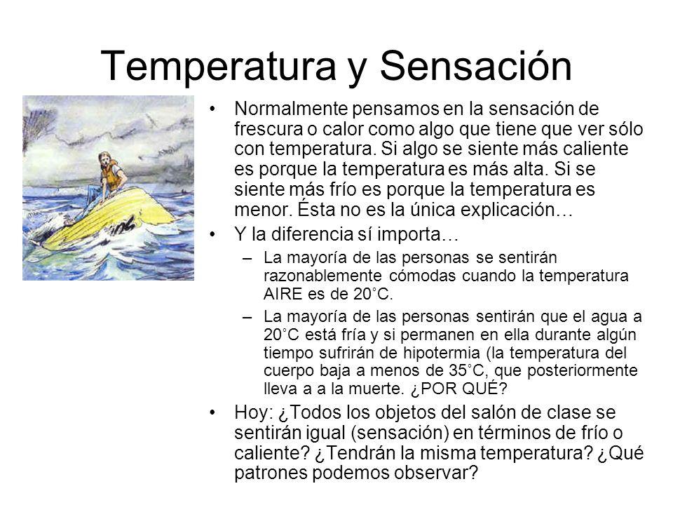 Temperatura y Sensación