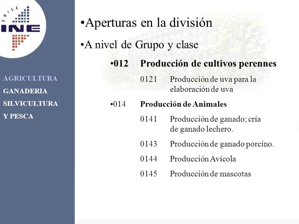 AGRICULTURA GANADERIA SILVICULTURA Y PESCA