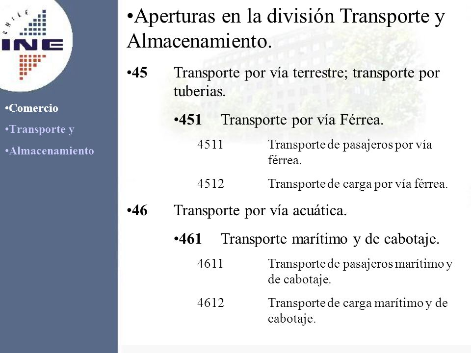 Comercio Transporte y Almacenamiento