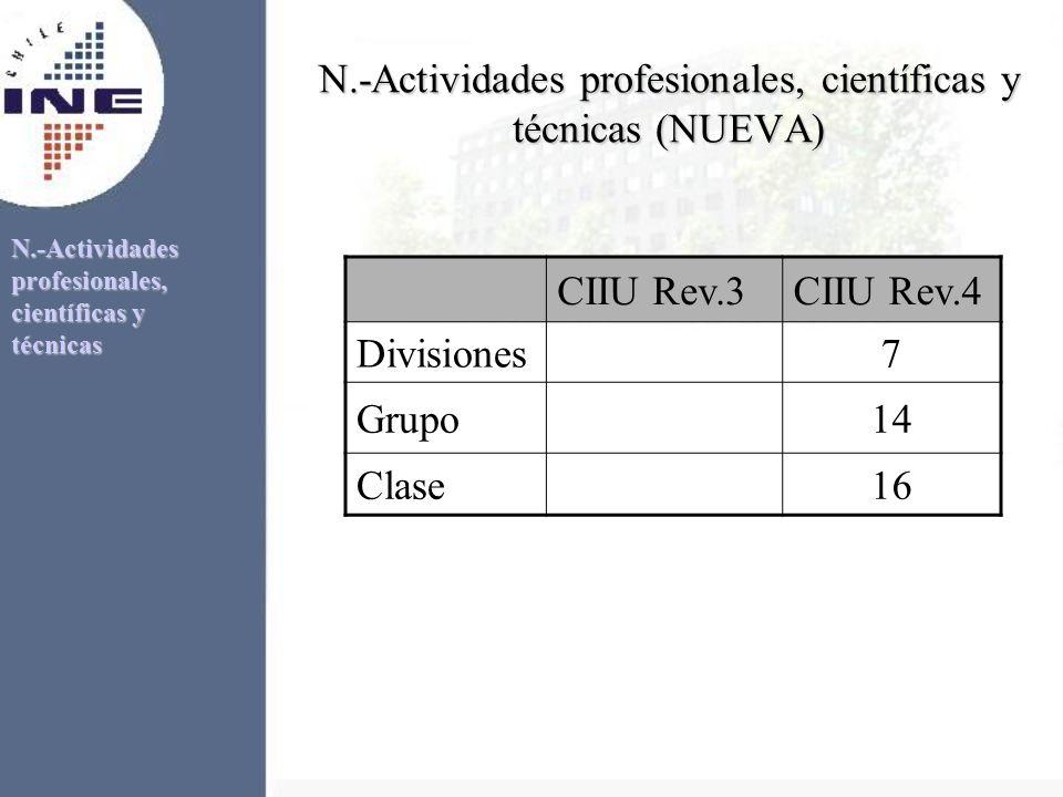 N.-Actividades profesionales, científicas y técnicas (NUEVA)