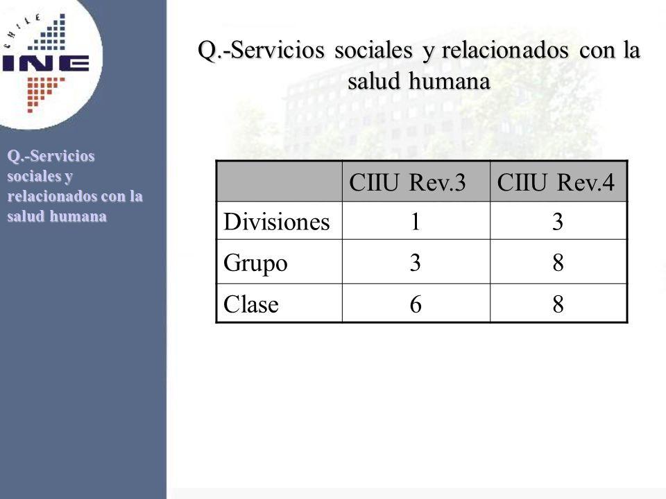 Q.-Servicios sociales y relacionados con la salud humana