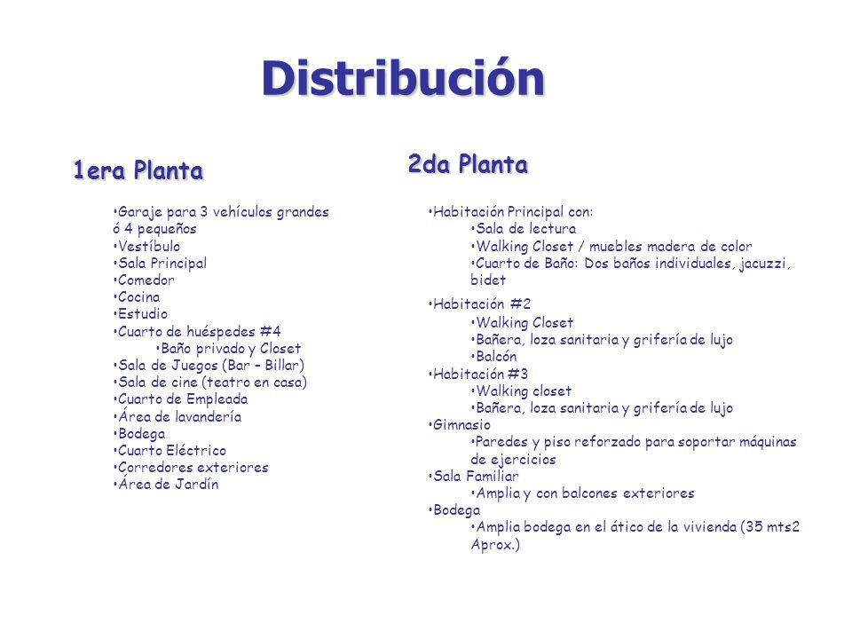 Distribución 2da Planta 1era Planta