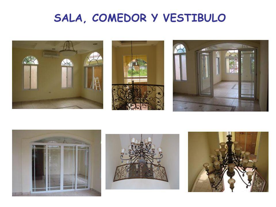 SALA, COMEDOR Y VESTIBULO