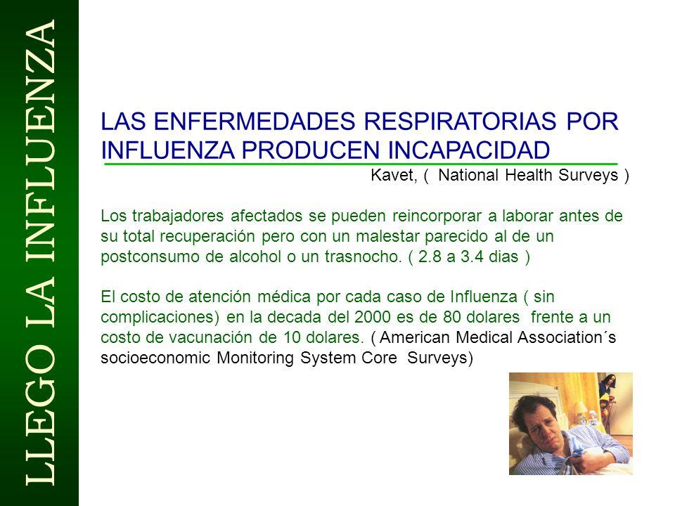 LAS ENFERMEDADES RESPIRATORIAS POR INFLUENZA PRODUCEN INCAPACIDAD