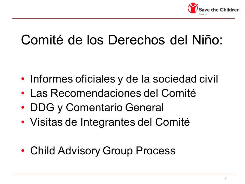 Comité de los Derechos del Niño: