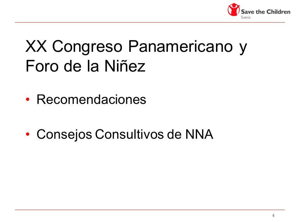 XX Congreso Panamericano y Foro de la Niñez