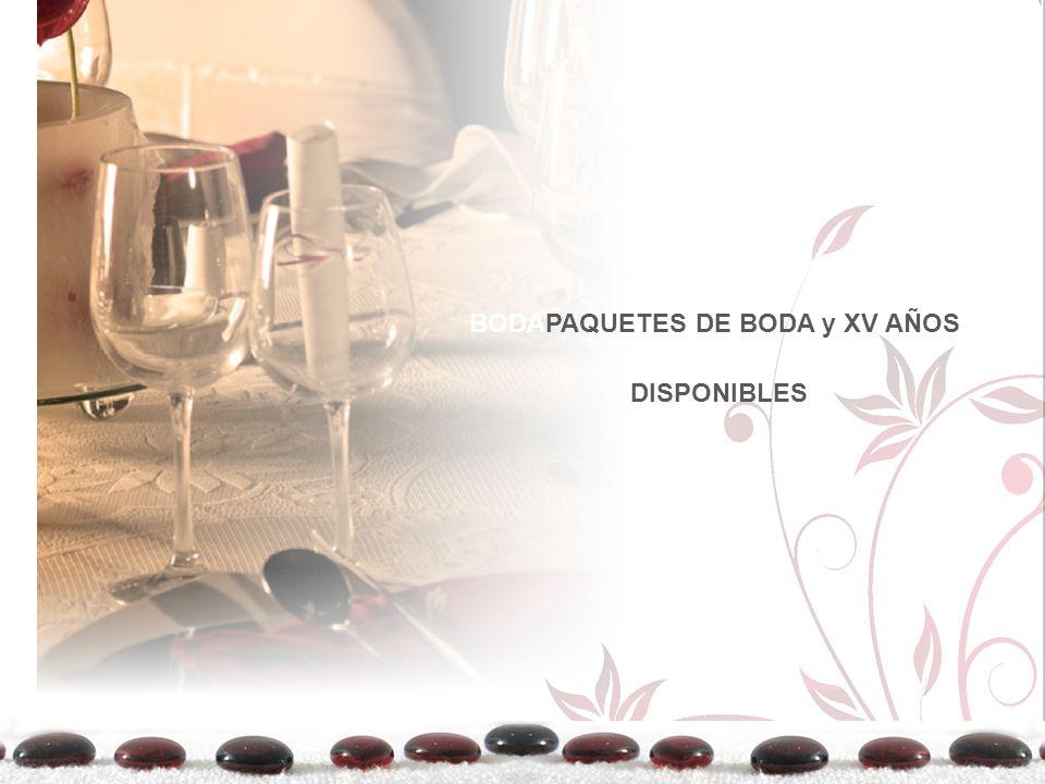 BODAPAQUETES DE BODA y XV AÑOS