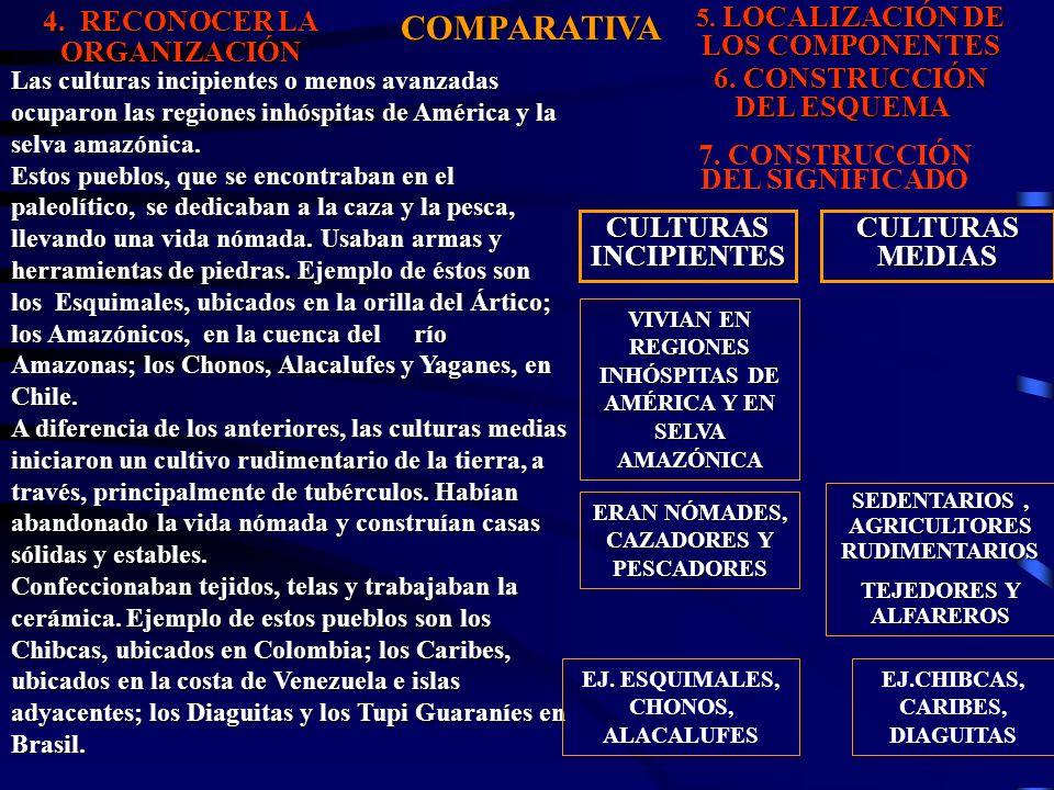 COMPARATIVA 4. RECONOCER LA ORGANIZACIÓN 6. CONSTRUCCIÓN DEL ESQUEMA