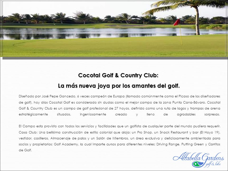 Cocotal Golf & Country Club: