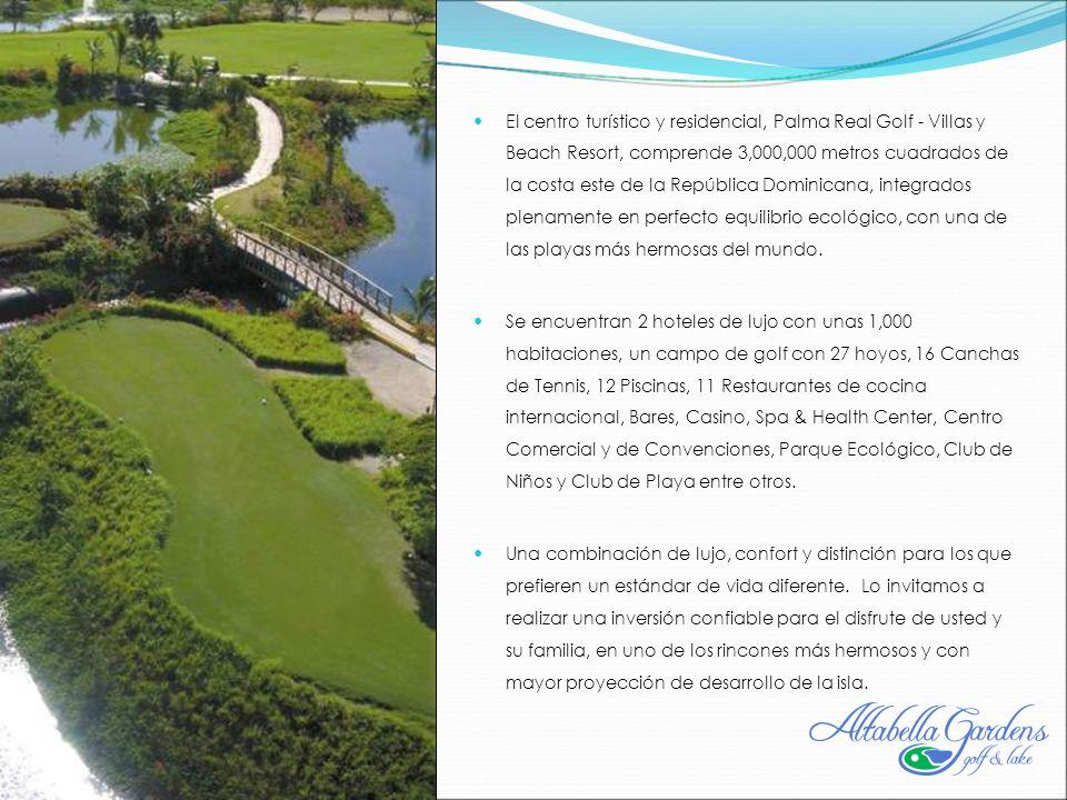 El centro turístico y residencial, Palma Real Golf - Villas y Beach Resort, comprende 3,000,000 metros cuadrados de la costa este de la República Dominicana, integrados plenamente en perfecto equilibrio ecológico, con una de las playas más hermosas del mundo.