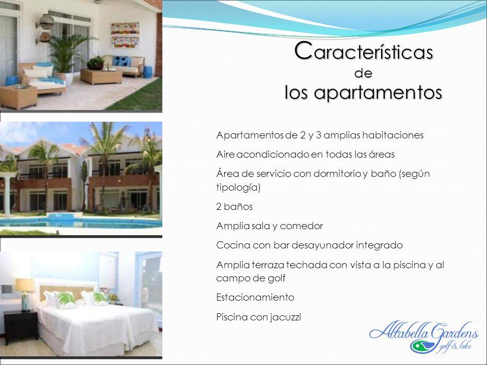 Características los apartamentos de