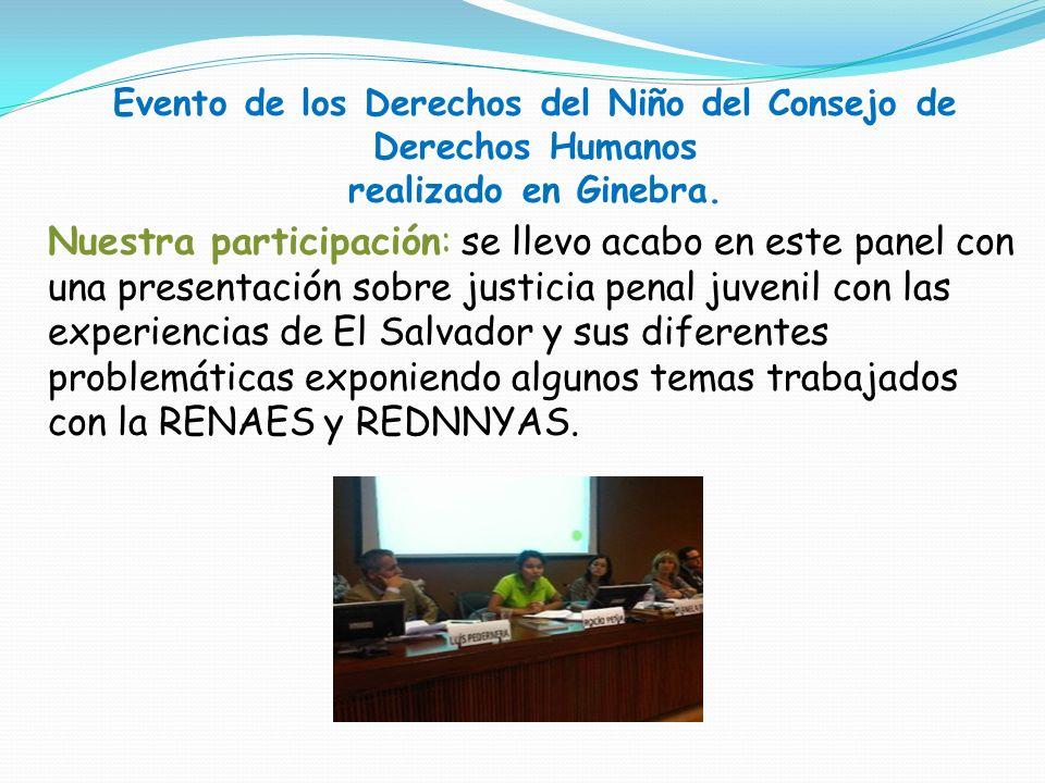 Evento de los Derechos del Niño del Consejo de Derechos Humanos realizado en Ginebra.