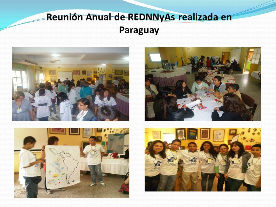 Reunión Anual de REDNNyAs realizada en Paraguay