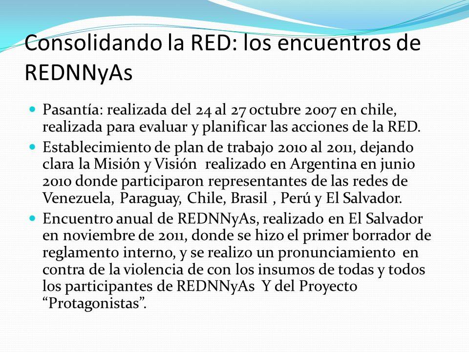 Consolidando la RED: los encuentros de REDNNyAs