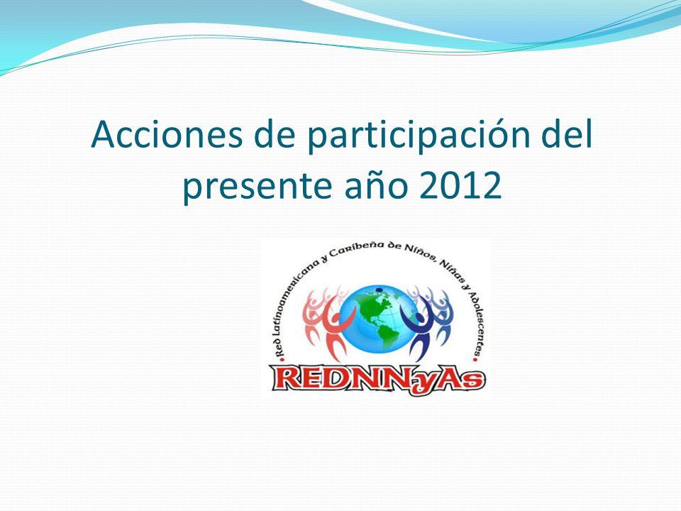Acciones de participación del presente año 2012