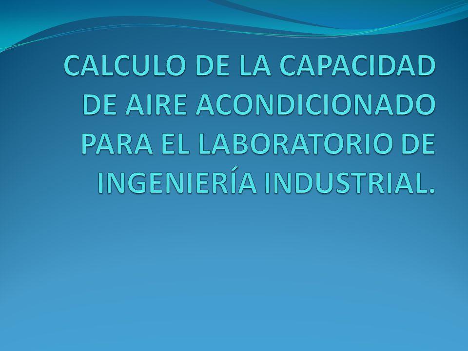 CALCULO DE LA CAPACIDAD DE AIRE ACONDICIONADO PARA EL LABORATORIO DE INGENIERÍA INDUSTRIAL.