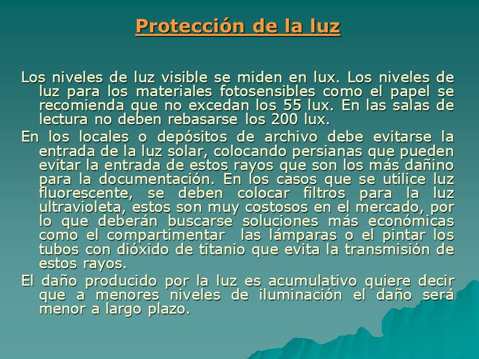 Protección de la luz