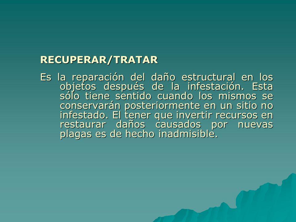 RECUPERAR/TRATAR