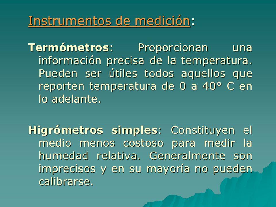 Instrumentos de medición:
