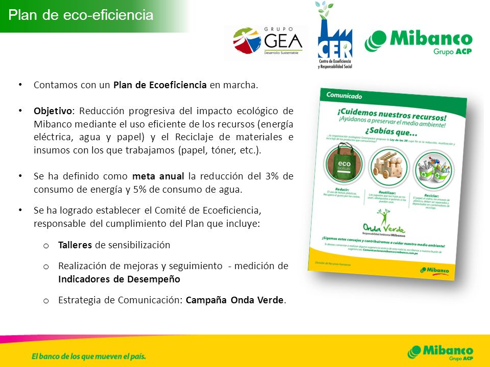 Plan de eco-eficiencia