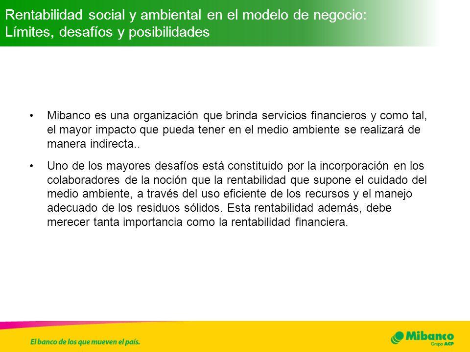 Rentabilidad social y ambiental en el modelo de negocio: