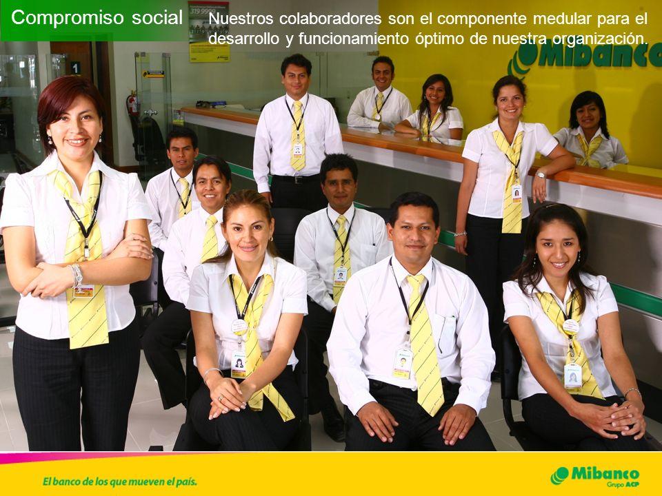 Compromiso social Nuestros colaboradores son el componente medular para el desarrollo y funcionamiento óptimo de nuestra organización.