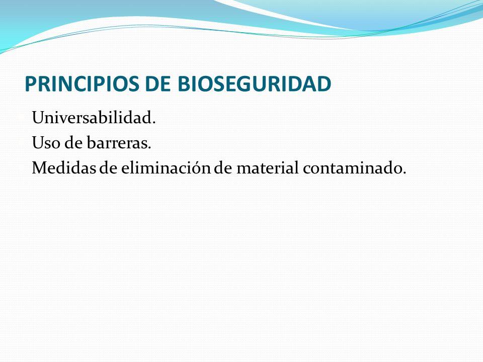 PRINCIPIOS DE BIOSEGURIDAD