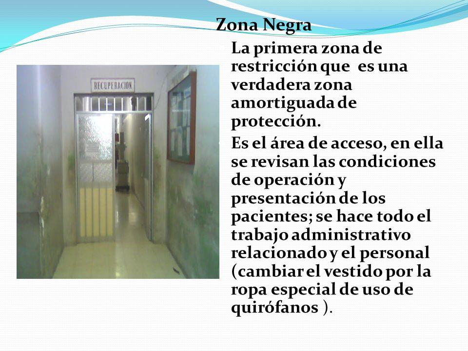 Zona Negra La primera zona de restricción que es una verdadera zona amortiguada de protección.