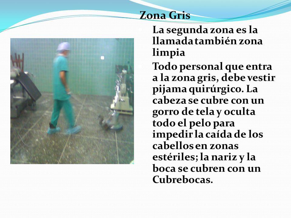 Zona Gris La segunda zona es la llamada también zona limpia