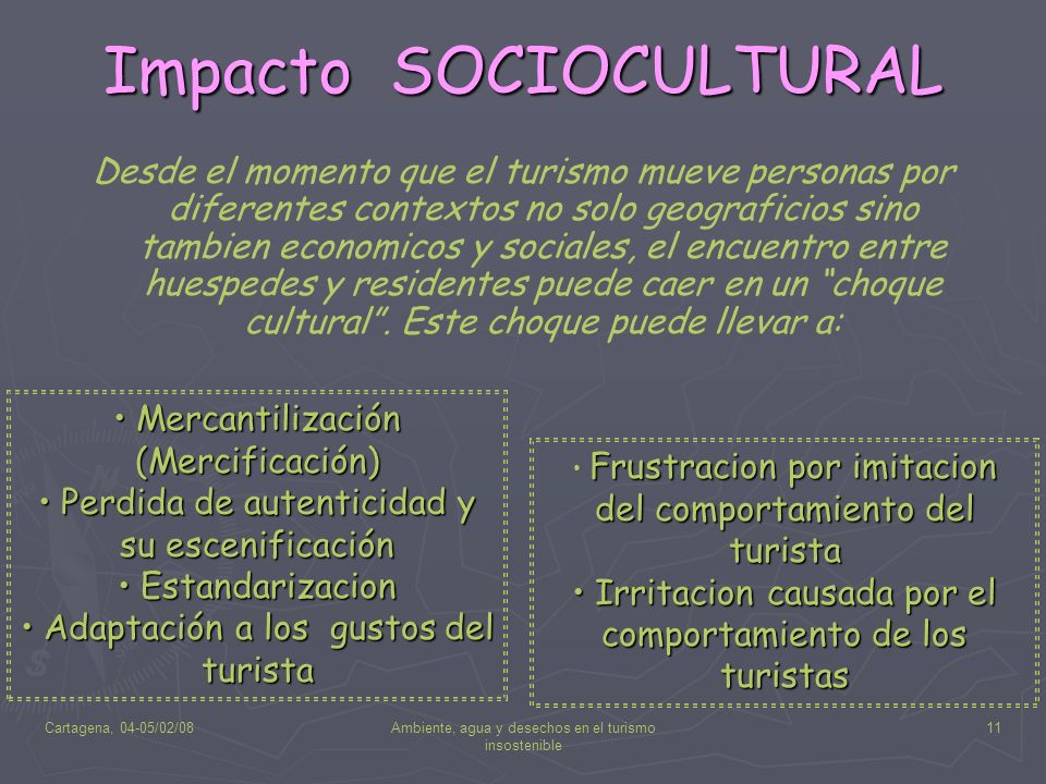 Impacto SOCIOCULTURAL