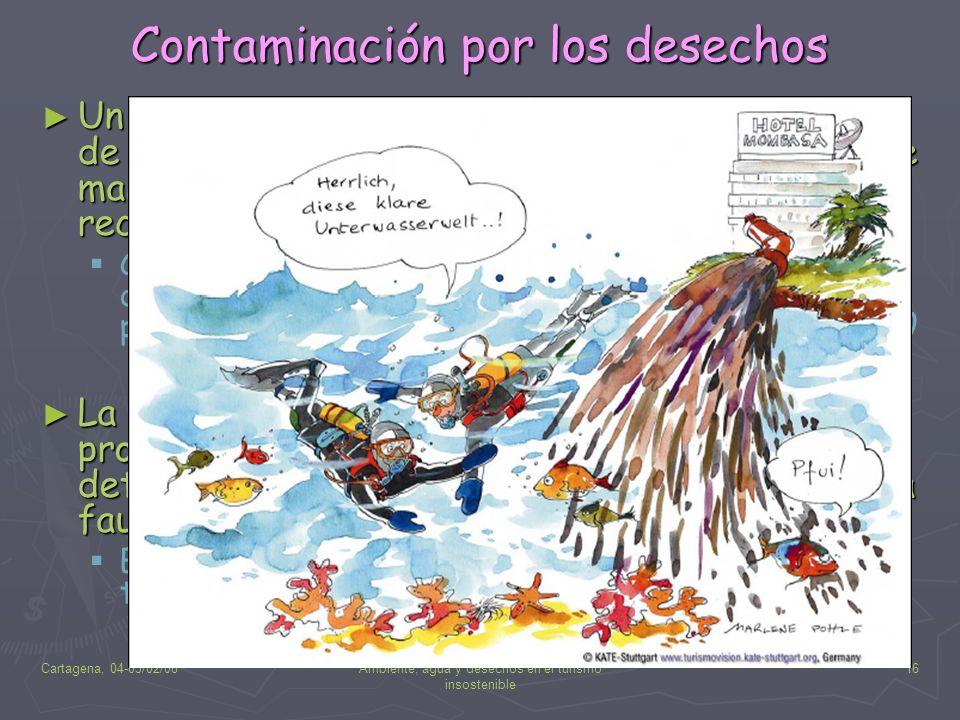 Contaminación por los desechos