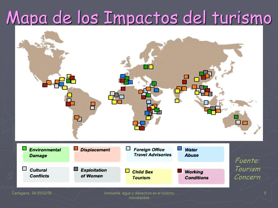 Mapa de los Impactos del turismo