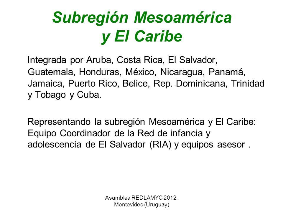 Subregión Mesoamérica y El Caribe