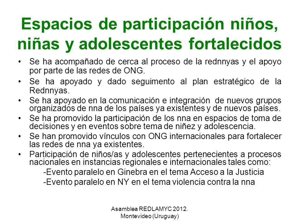 Espacios de participación niños, niñas y adolescentes fortalecidos