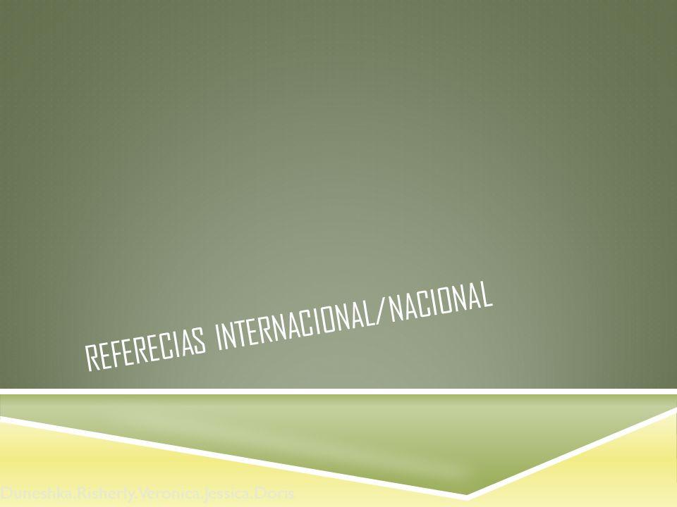 Referecias internacional/nacional