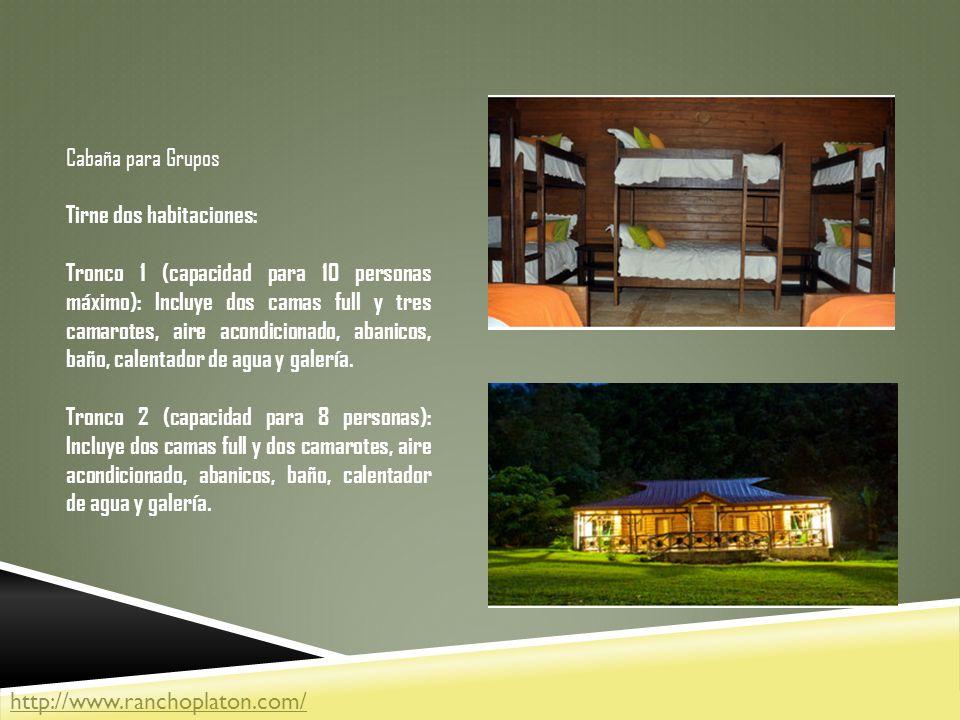 Cabaña para Grupos Tirne dos habitaciones: