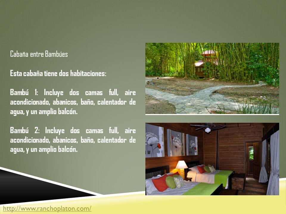 Esta cabaña tiene dos habitaciones: