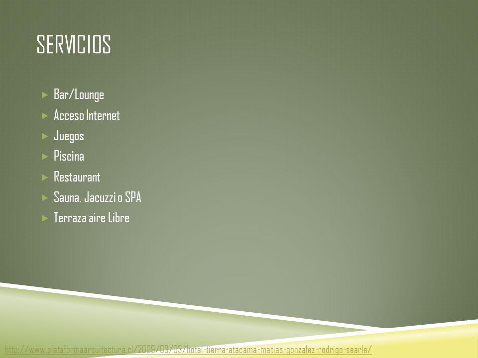 Servicios Bar/Lounge Acceso Internet Juegos Piscina Restaurant