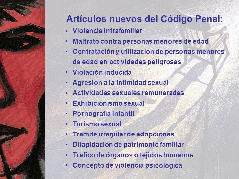 Artículos nuevos del Código Penal: